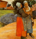 Gauguin Paysanes Bretones Breton peasant women 1894 Oil on