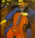 Gauguin The Cellist Portrait Of Upaupa Scheklud