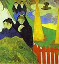 Gauguin Women From Arles In The Public Garden, The Mistral