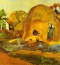 Gauguin Yellow Hay Ricks Fair Harvest