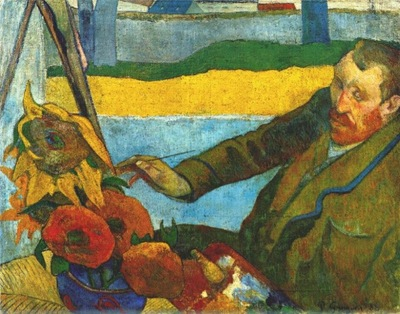 gauguin van gogh painting sunflowers