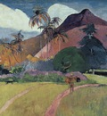 Tahitian Landscape with a Mountain, Gauguin, 1893 1600x120