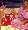 Two Tahitian Women on the Beach, Gauguin, 1891 1600x1200