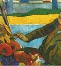 gauguin van gogh painting sunflowers
