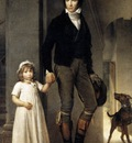 GERARD Francois Jean Baptist Isabey Miniaturist With His Daughter