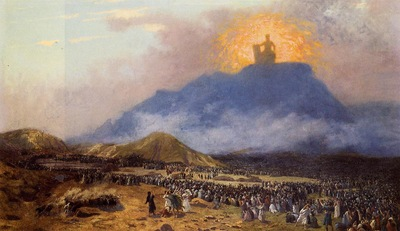 Gerome Jean Leon Moses on Mount Sinai