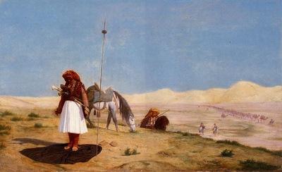 Gerome Jean Leon Prayer in the Desert