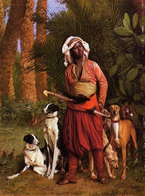 Gerome Jean Leon The Negro Master of the Hounds