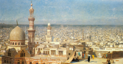 Gerome Jean Leon View Of Cairo