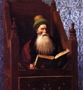 Gerome Jean Leon Mufti Reading in His Prayer Stool