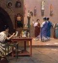 Gerome Jean Leon Painting Breathes Life into Sculpture c1893