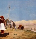 Gerome Jean Leon Prayer in the Desert