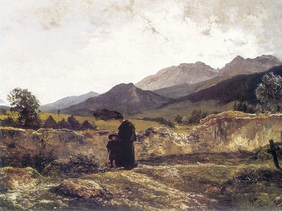 am Wojciech Gerson Cemetery in the Mountains