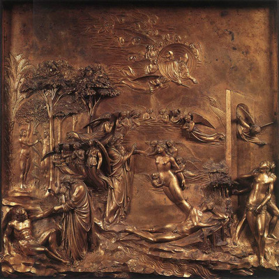 Ghiberti Lorenzo Creation of Adam and Eve Temptation and Expulsion