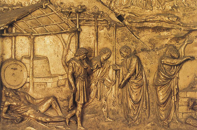 Ghiberti Lorenzo The Drunkeness of Noah