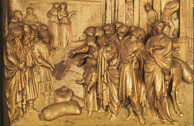 Ghiberti Lorenzo The Story of Joseph Discovery of the Golden Cup