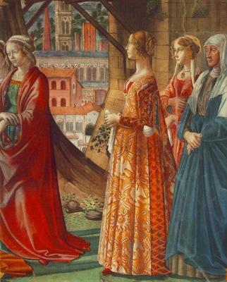 GHIRLANDAIO GIOVANNA TORNABUONI AND HER ACCOMPANIMENT,S MARI