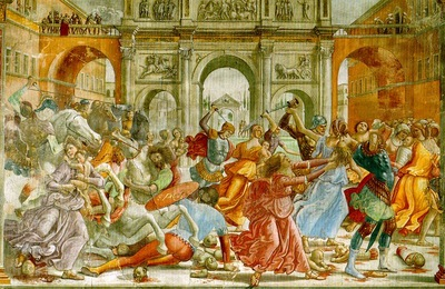 GHIRLANDAIO SLAUGHTER OF THE INNOCENTS, CAPPELLA TORNABUONI,