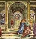 GHIRLANDAIO EXPULSION OF JOACHIM FROM THE TEMPLE, CAPPELLA T