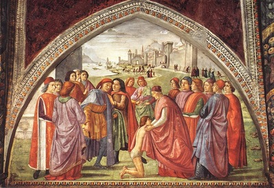 GHIRLANDAIO RENUNCIATION OF WORLDLY GOODS, CAPPELLA SASSETTI