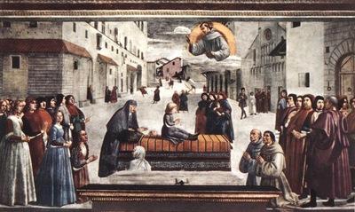 GHIRLANDAIO RESURRECTION OF A BOY, CAPPELLA SASSETTI, S TRIN