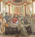 GHIRLANDAIO OBSEQUIES OF ST FRANCIS, CAPPELLA SASSETTI, S TR