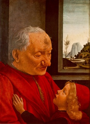 GHIRLANDAIO PORTRAIT OF AN OLD MAN WITH A CHILD, LOUVRE