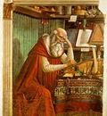 GHIRLANDAIO SAINT JEROME IN HIS STUDY, OGNISSANTI FIRENZE
