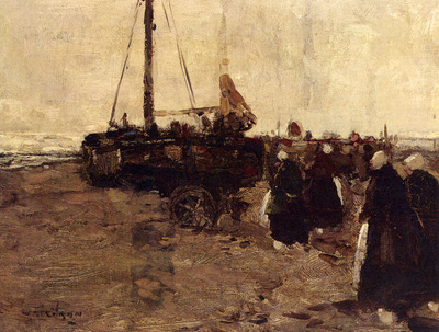 Gibson William Alfred The Return Of The Fishing Boats