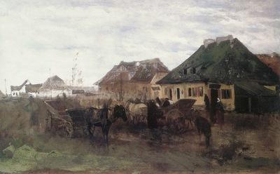 am Maksymilian Gierymski Spring in a Small Town
