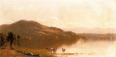 Gifford Sanford Robinson Mt  Merino on the Hudson near Olana