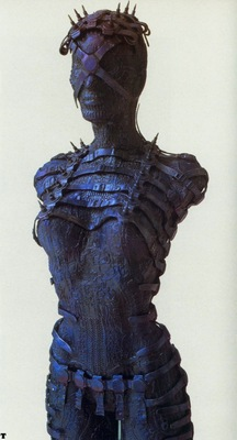H R Giger 1994 FEMALE TORSO aluminium, bronze colored 104x44x35cm No WA72