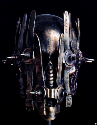 H R Giger 1994 SKULL WHARF bronze colored 60x50x50cm No WA71