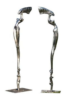 H R Giger 2002 NUBIAN QUEEN cast aluminium height 1m 83cm