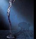 H R Giger 2000 KORN MICROPHONE STAND cast aluminium 160x15x40cm