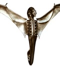 H R Giger 2002 GUARDIAN ANGEL aluminium front 45x36x22cm