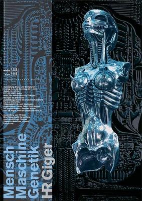 poster man machine genetics exhibitioin laser print 120x90cm