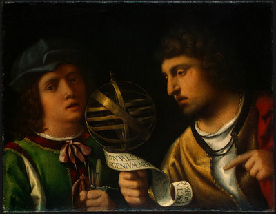 GIORGIONE, ATTR  GIOVANNI BORGHERINI AND HIS TUTOR, NGW