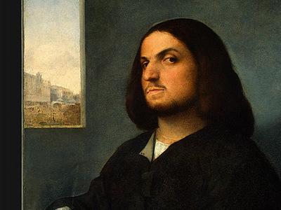giorgione and tiziano portrait of a venetian gentleman, c