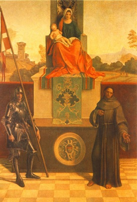 GIORGIONE MADONNA ENTHRONED WITH THE CHILD BETWEEN ST  FRANC