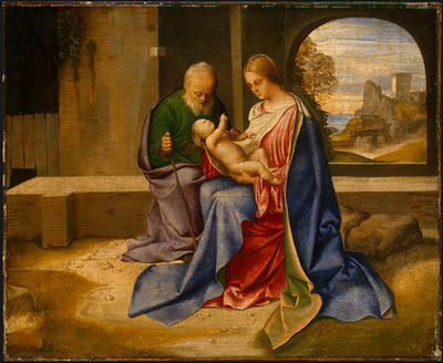 GIORGIONE THE HOLY FAMILY, PROBABLY C  1500, NGW