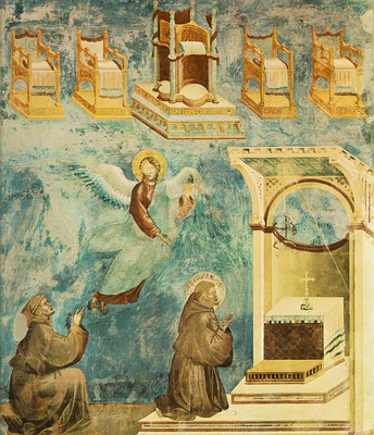 Giotto Legend of St Francis [09] Vision of the Thrones