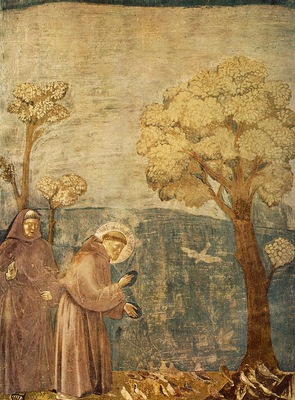Giotto Legend of St Francis [15] Sermon to the Birds