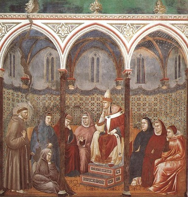 Giotto Legend of St Francis [17] St Francis Preaching before Honorius III