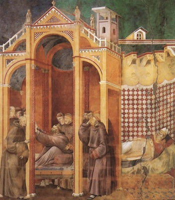 Giotto Legend of St Francis [21] Apparition to Fra Agostino and to Bishop Guido of Arezzo