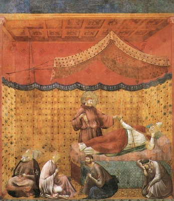 Giotto Legend of St Francis [25] Dream of St Gregory