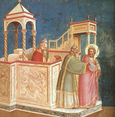 Giotto Scrovegni [01] Expulsion of Joachim from the Temple