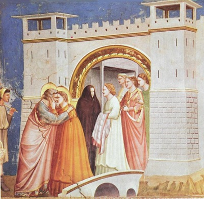 Giotto Scrovegni [06] Meeting at the Golden Gate
