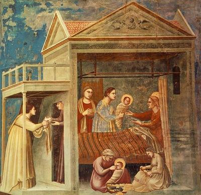 Giotto Scrovegni [07] The Birth of the Virgin