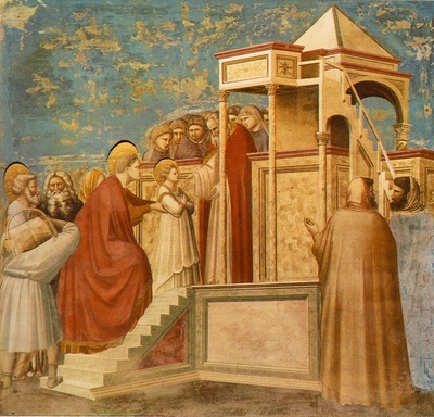 Giotto Scrovegni [08] Presentation of the Virgin in the Temple